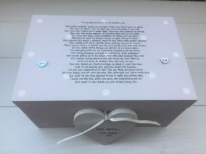 Shabby Personalised Chic Mother & Father Of The Groom Wedding Gift LARGE Box - 232211316531